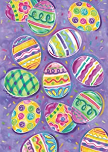 colorful;multicolor;egg;easter;holiday;painted;dyed;stripe;dot;collage;vibrant;purple;yellow;pastel