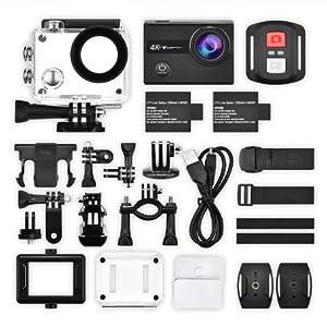 Action Cam, icefox, Unterwasserkamera, Fernbedienung, Helmkamera, Wasserdicht, Sport, Action Kamera