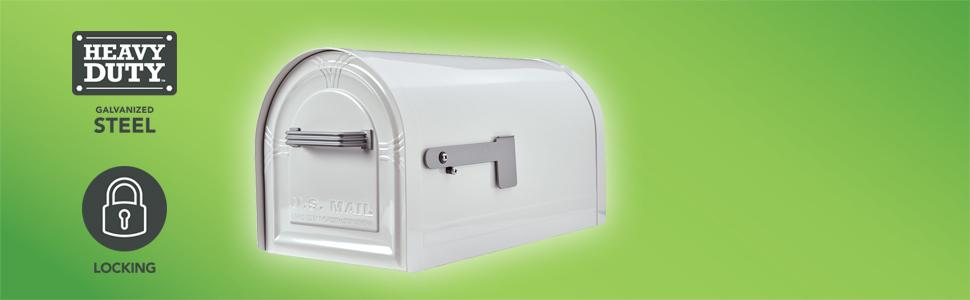 wyngate locking post mount mailbox - Lockable Mailbox