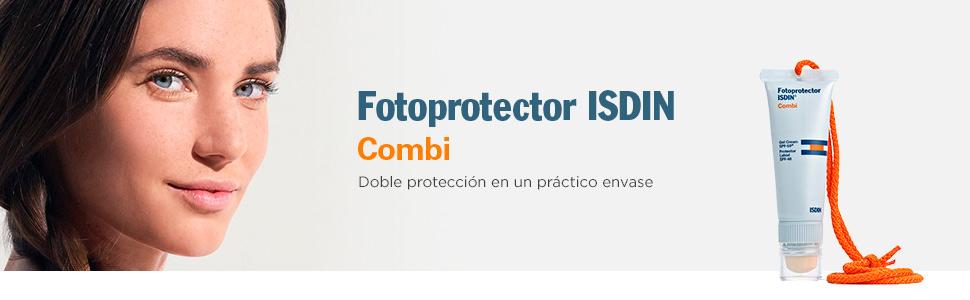 Fotoprotector ISDIN Combi - Fotoprotección 2 en 1: protege la piel ...
