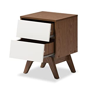 plain angled open drawers