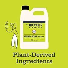 Meyer's Hand Soap Refill, Bulk, Lemon Verbena