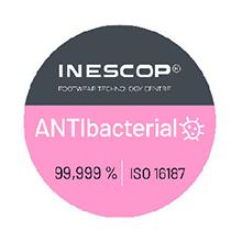 Es el logo de nuestro certificad. Ayuda a frenar la aparcion de bacterias.