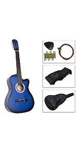 7/8 Size Blue Acoustic Guitar