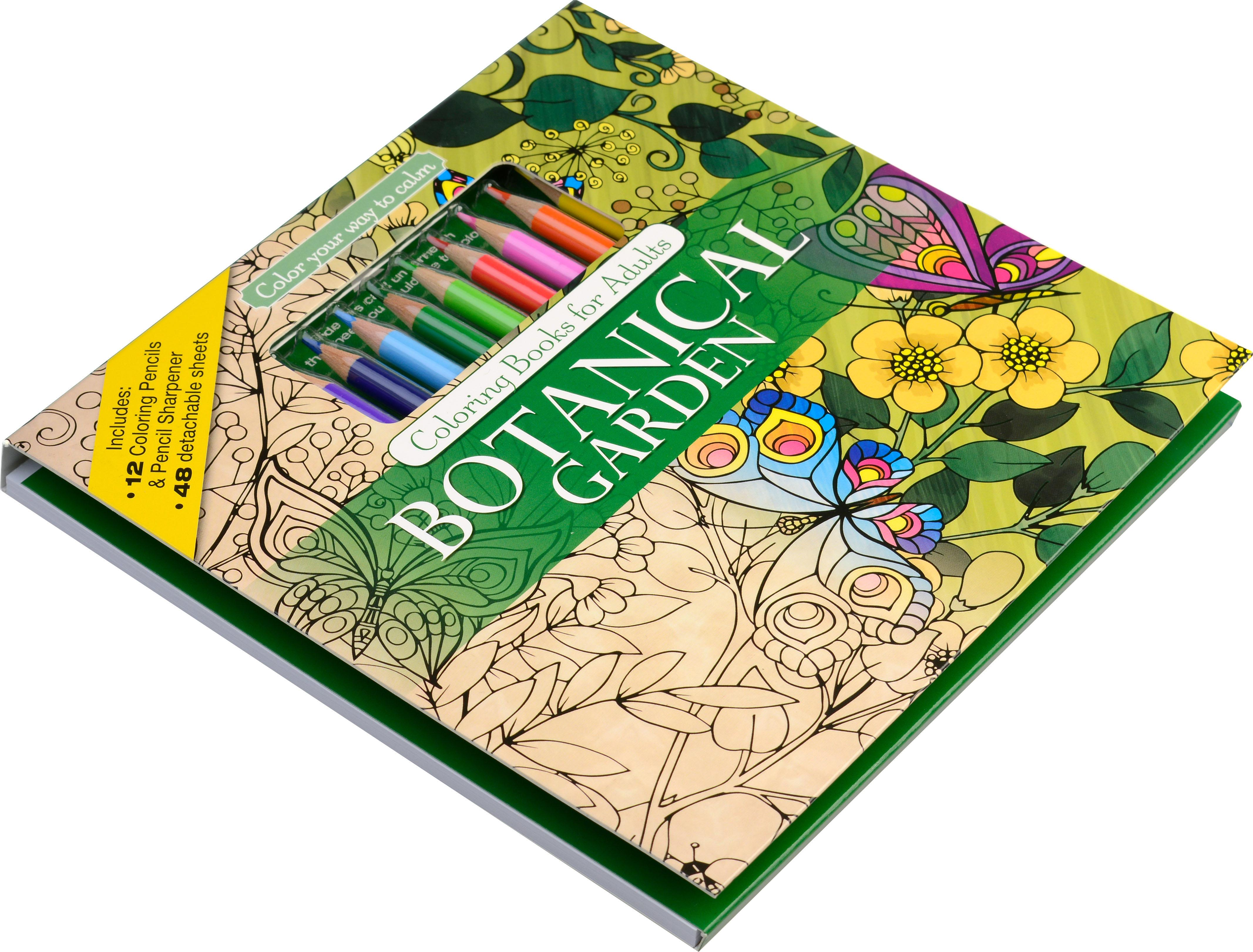 Amazon.com: Mandalas Adult Coloring Book Set With 12 Colored Pencils ...