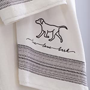 Amazon Com Skl Home By Saturday Knight Ltd Fur Ever Friends Bath Towel White Home Kitchen