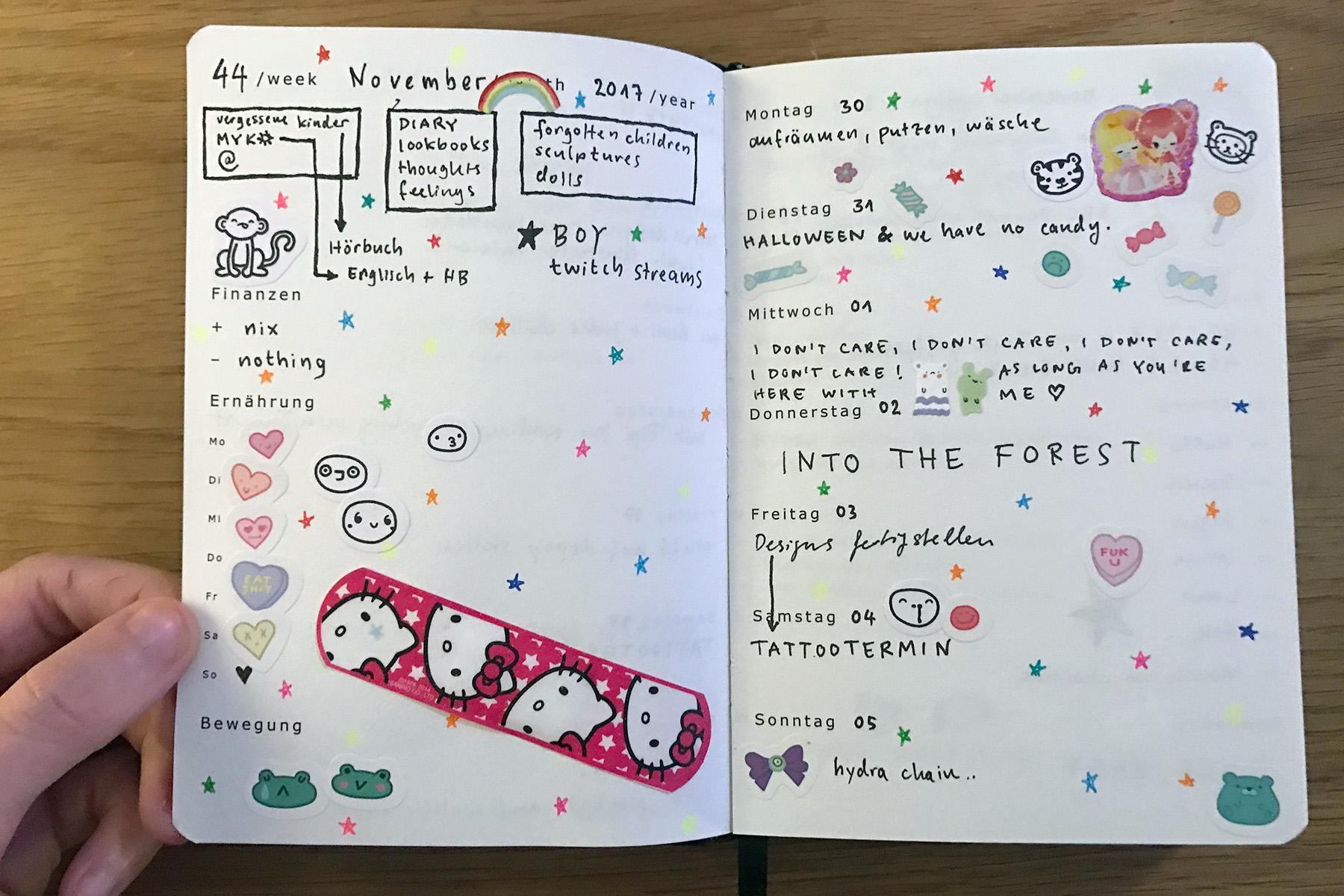 Kalender für mehr oder weniger ein Jahr: Diary mit