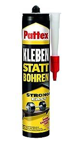 Pattex lijm in plaats van boren montagelijm monteren monteren monteren bevestigen sterke grip kracht