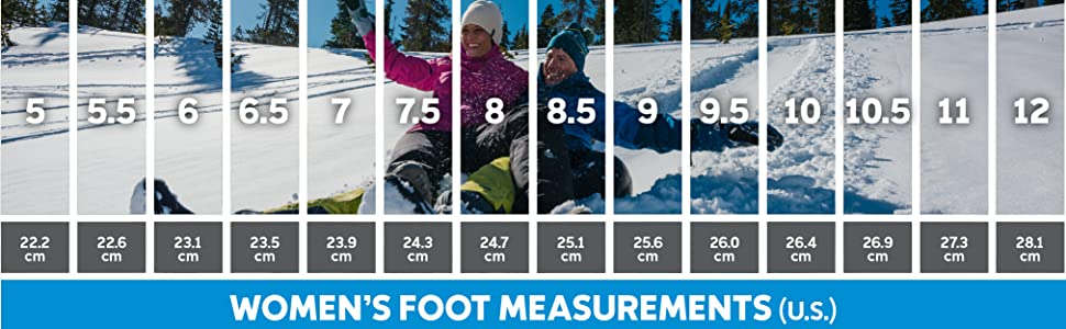 Women's snow boot size and fit guide