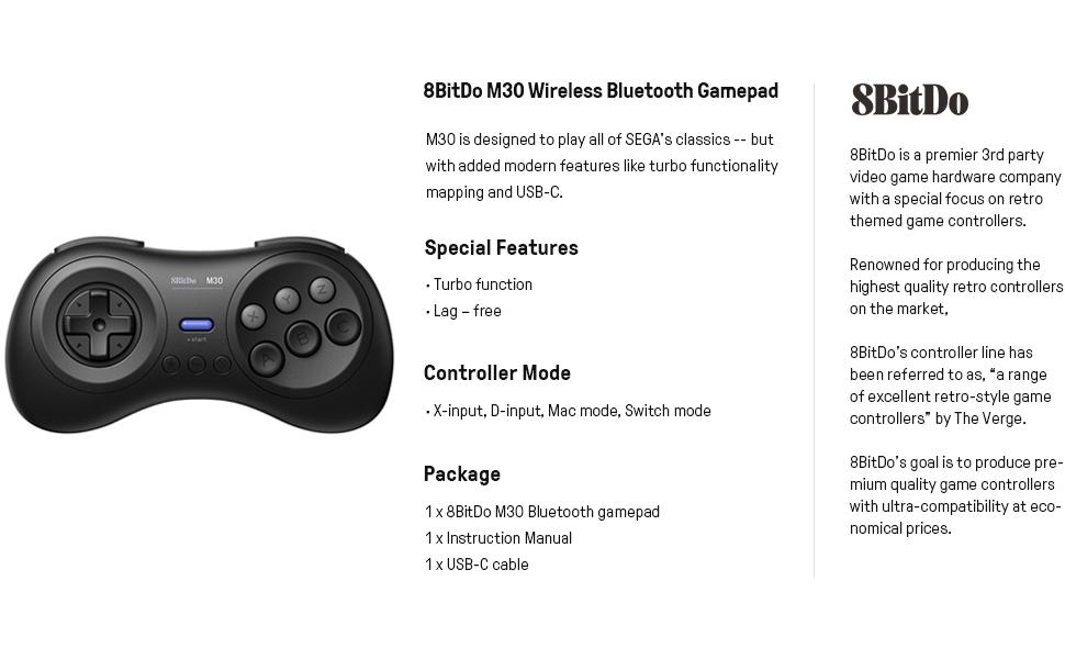 Amazon com: 8Bitdo M30 Bluetooth Gamepad for Nintendo Switch