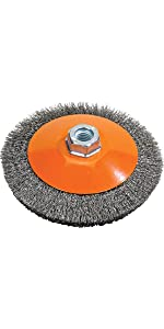 Carbon Steel Brush with Supporting Ring Walter 13G554 Knot Twisted Wire Cup Brush Finishing Tools and Accessories 5 in