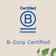 Designed for minimal environmental impact. Certified B-Corp
