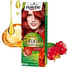 Schwarzkopf Palette Naturals Color Creme - Tono 6 cabello Rubio Oscuro (Pack de 5) - Coloración Permanente – Perfecta cobertura de canas – Colores ...