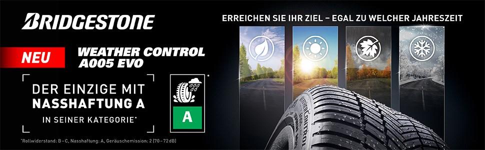 Bridgestone Weather Control A005 Evo 235 45 R18 98y Xl C A 71 Ganzjahresreifen Pkw Suv Auto