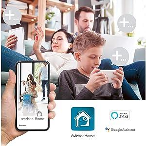 Avidsen Homecam 360 Wlan Ip Überwachungskamera Für Den Innenraum Mit Smartphone Anbindung Garten