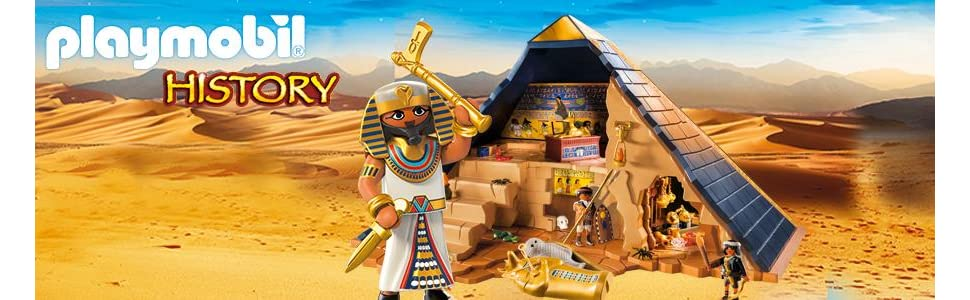 playmobil 5386 history egyptian pharaoh 39 s pyramid with many hidden tombs and traps playset. Black Bedroom Furniture Sets. Home Design Ideas