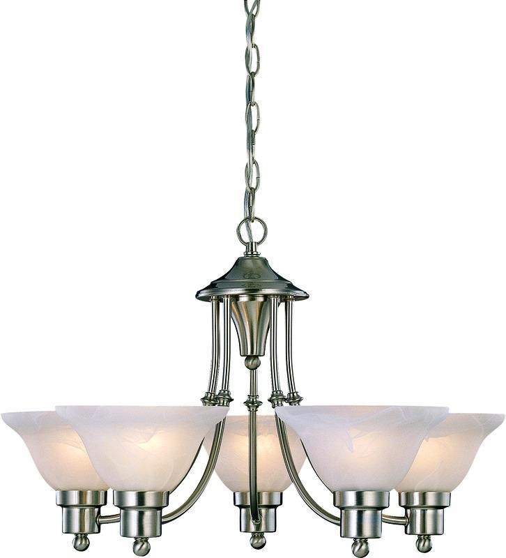 Elegant Hardware House Bristol Light Chandelier Brushed Nickel