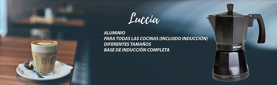 WeCook 30103 Cafetera Italiana Aluminio Inducción ...