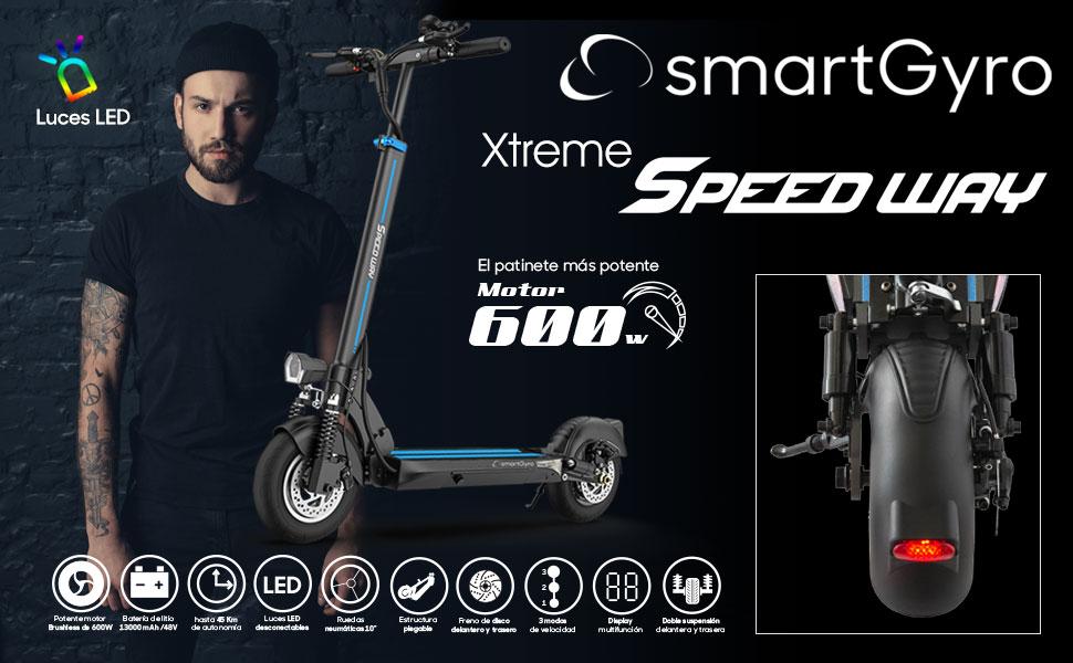 SMARTGYRO Xtreme XD - Patinete Eléctrico