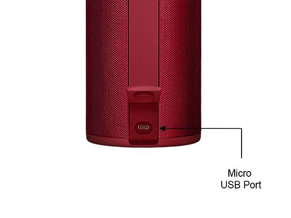 Micro USB charging port