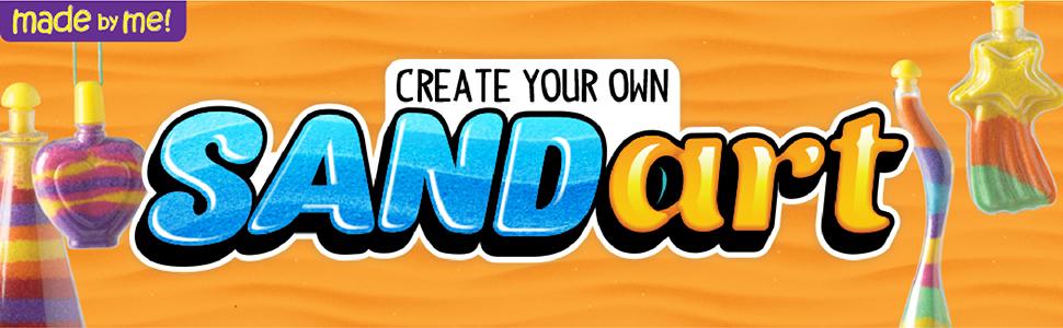 sand, art, create, creativity, activity, kit, arts and crafts, design, customize, fun
