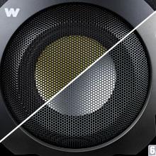 Altavoces 2.1 de 150W, subwoofer de madera y conexión óptica Big Bass 260