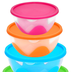 Nested /& Stackable Bowl Food Storage Containers 5 Piece Multi-Purpose Set