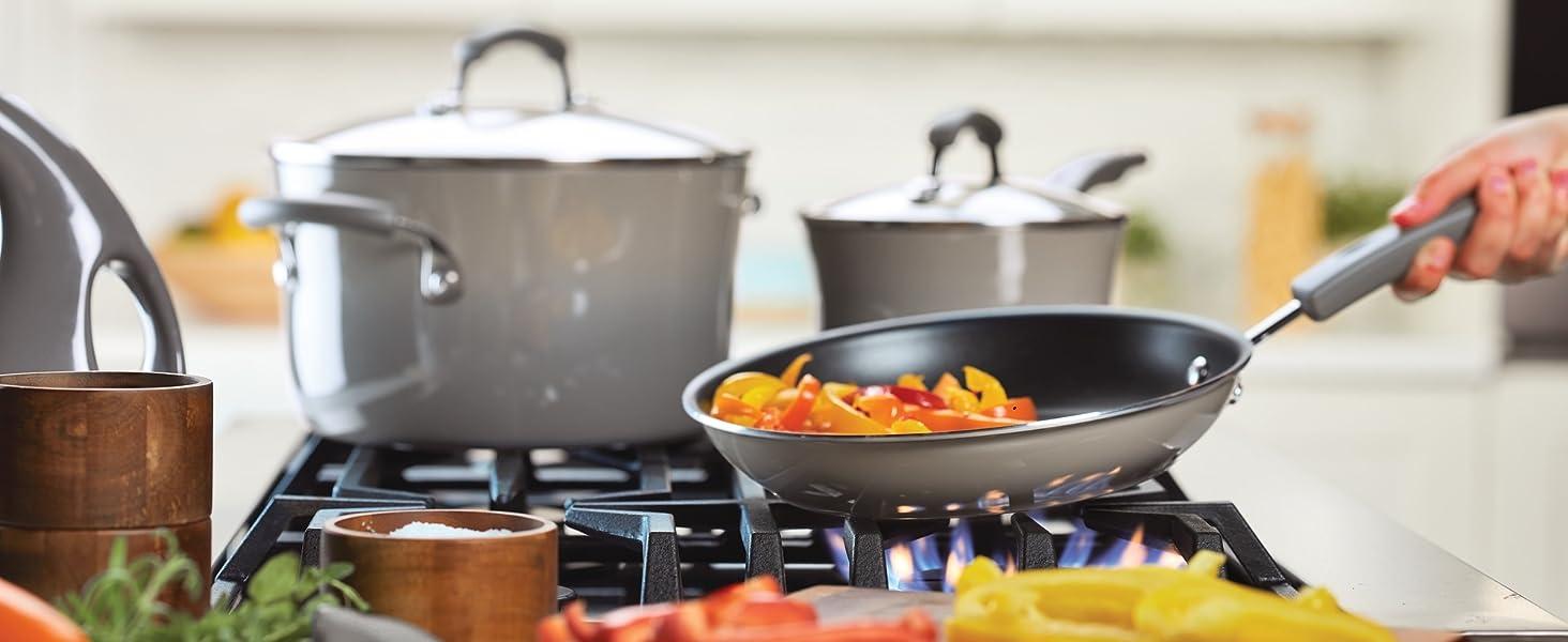 cookware, pots and pans, nonstick cookware, skillet, rachel ray