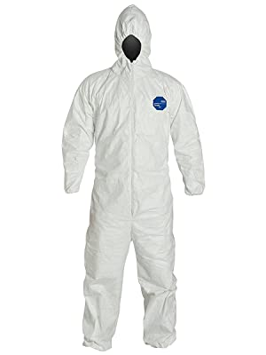 DuPont tyvek suit hazmat coverall protective clothing protection paint cleaning chemical toxic