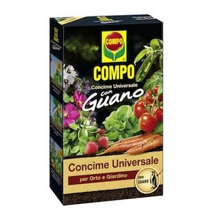 Compo universele meststof Guano organische tuin groente planten tomaten wortel salade