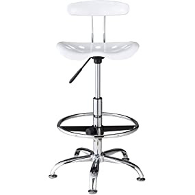 amazon com onespace drafting stool with tractor seat white