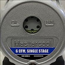 mastercool, 90066-B, vacuum pump, 6 cfm, single stage, oil level