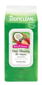 berry & coconut deep cleaning pet wipes
