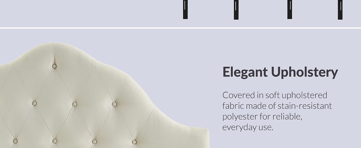 deep tufted buttons,Tufted Linen,Full Headboard,splendor,headboard fitted,sophisticated