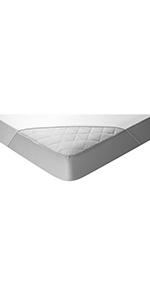 Protector de colchón acolchado con Aloe Vera, impermeable