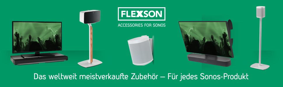 Flexson Wandhalterung Geeignet Für Sonos One One Sl Und Play 1 Paar Schwarz Heimkino Tv Video