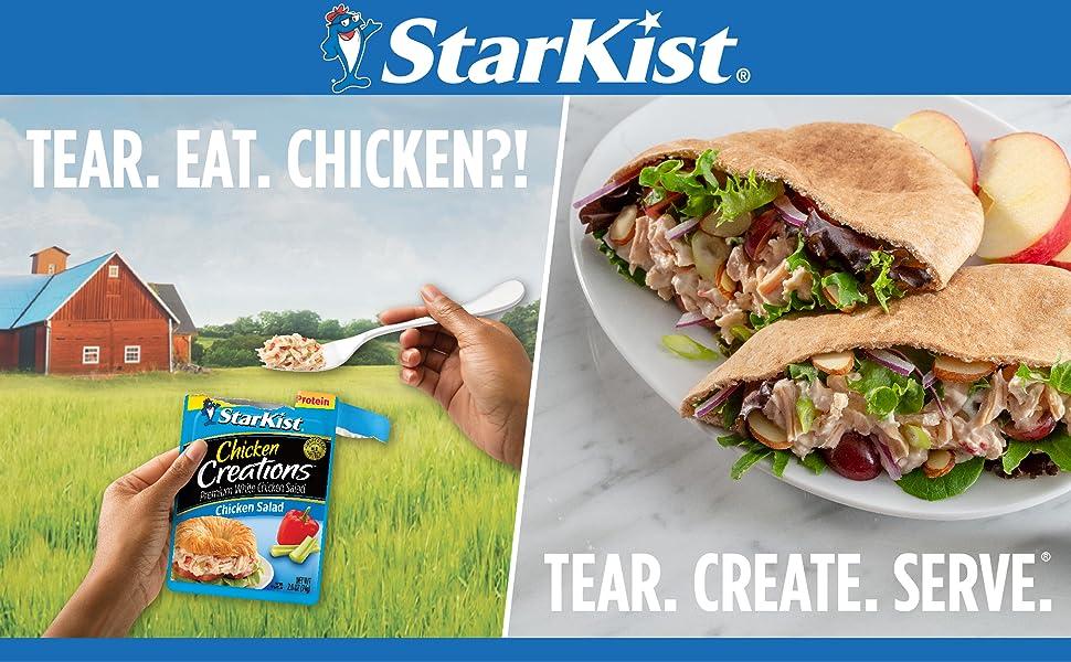 StarKist, Tear. Eat. Chicken?! Tear. Create. Serve.