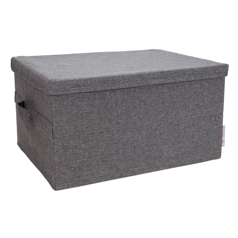 bigso soft storage box with lid large grey home kitchen. Black Bedroom Furniture Sets. Home Design Ideas