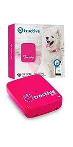 tractive gps rosa para perras