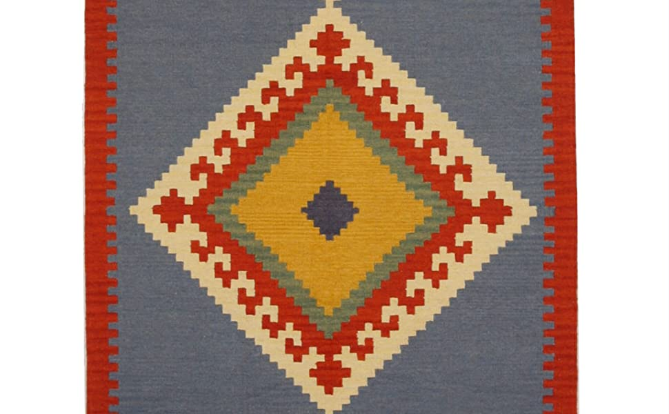 Type_Handmade,Color_Blue,Origin_India,Pattern_Geometric,Material_Wool,Style_Traditional