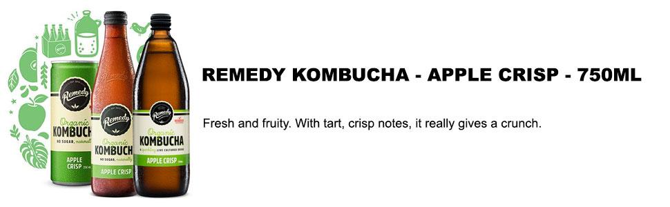 Remedy Organic Kombucha Apple Crisps, 750ml