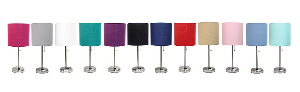 charging lamp; outlet;assorted colors; dorm