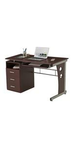 Choclate Computer Workstation Desk
