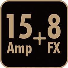 15 Guitar Amp Models + 8 Effects