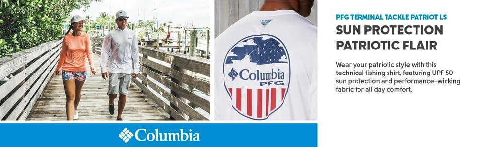 Columbia Men's PFG Terminal Tackle Patriot Long Sleeve Tee