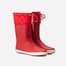 Giboulée bottes pluie enfant après-ski rouge