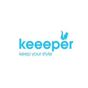 Pl/ástico robusto Keeeper Cesta de la Colada Azul claro 32 l Aenna