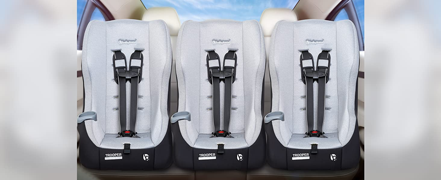 Trooper 3-in-1 Convertible Car Seat fits three across