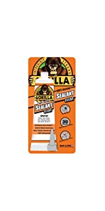 Gorilla clear 100 percent silicone sealant squeeze tube caulk caulking tub bath shower kitchen