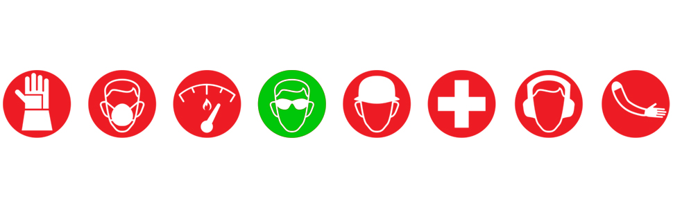 Safety, Glasses, Green, Red, White, Background Image